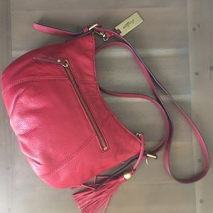 Lucky Brand Red Leather Crossbody Purse